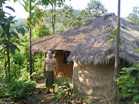 The earthen hut accommodations at You Sabai in Thailand