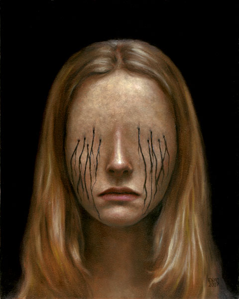 Look At Me.  Страшное и красивое в картинах Andrew Esao.