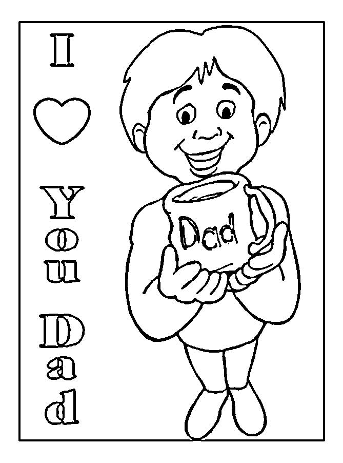 Printable Coloring Pages For Dad Cute Sketches