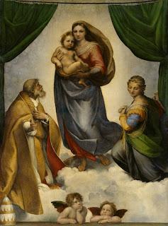 Madonna Sistina de Rafael, acervo da Galeria dos Velhos Mestres da Pintura, em Dresden