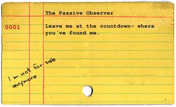 The passive observer