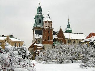 Kraków Wawel Zdjęcie Zima
