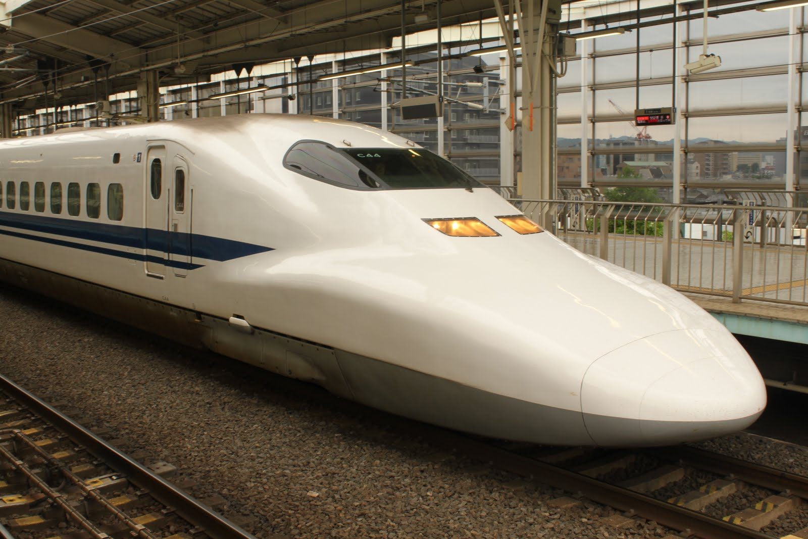 Asia Travel Stories: Riding the bullet train in Japan.