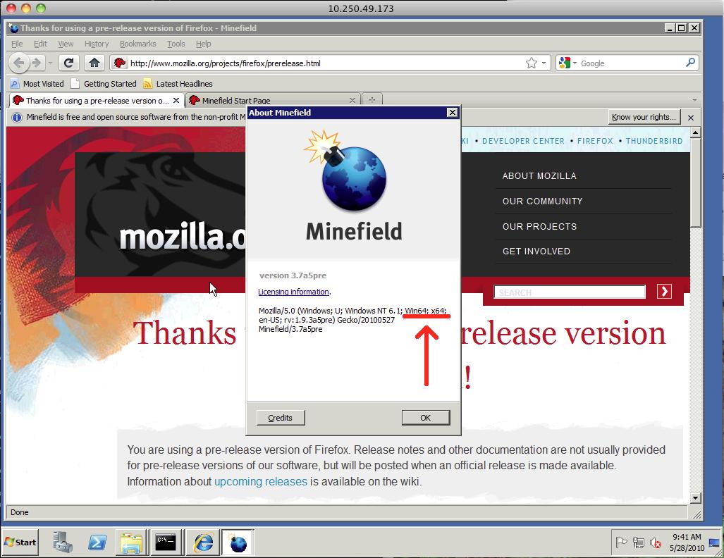 Firefox  Builds Gleichzeitig