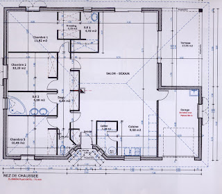la maison carr e de mat do langoiran le plan de la maison. Black Bedroom Furniture Sets. Home Design Ideas
