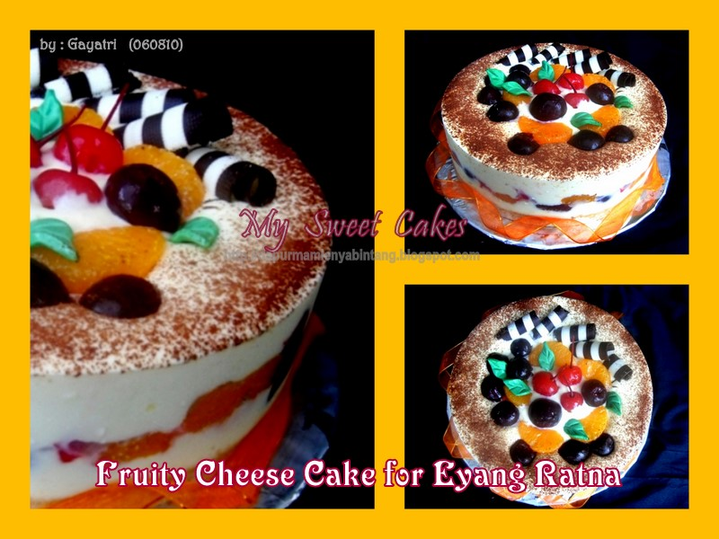 Super delicious birthday cookies: Fruity Cheese Cake for Eyang Ratna