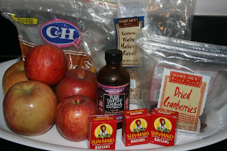 These are the ingredients you can use to make baked apples at home in the crockpot slow cooker.