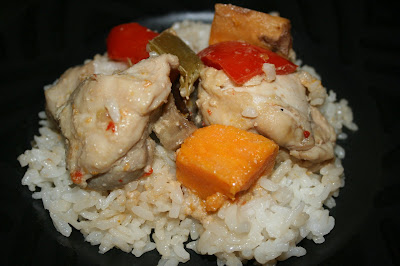 Thai Curry in the Slow Cooker -- this is the recipe that Rachael Ray gave me! It tastes just like it came from a delivery guy. ;-)