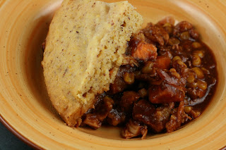 BBQ Chicken and Cornbread Casserole -- it all cooks at the same time in  your CROCKPOT!!