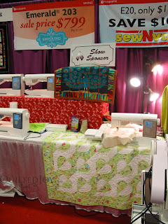 One of Angela's quilts on display at Paducah ;) - QuiltedJoy.com