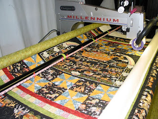 Noah's Ark quilt with pinwheel blocks