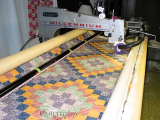 Sunnella's WIP quilt, featuring beautiful harmonious colors!