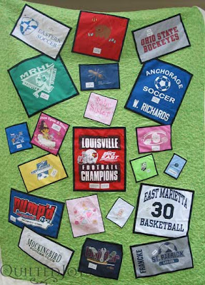 Linda's T-Shirt Quilt, quilted by Angela Huffman