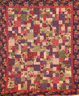 Becky's Purple Floral Quilt, quilted by Angela Huffman