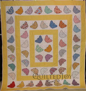 Wandering Butterflies, quilted by Angela Huffman