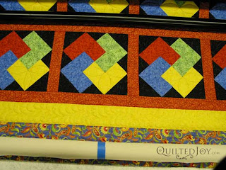 Card Trick Quilt, custom quilted by Angela Huffman