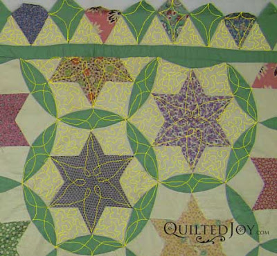 Angela likes to use Photoshop and a Wacom Tablet to audition quilting designs - QuiltedJoy.com