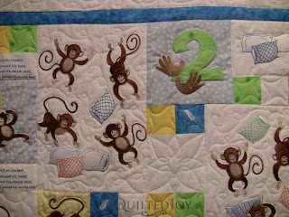 Linda S Five Little Monkeys Quilt Quilted Joy
