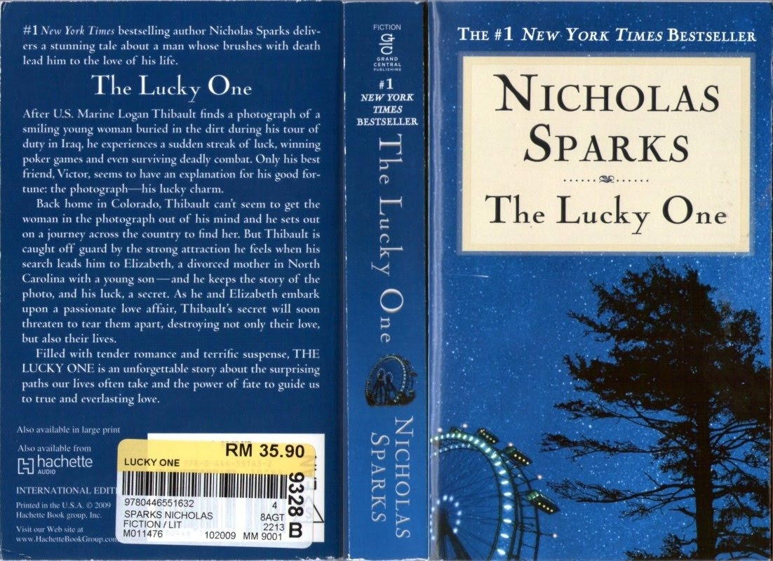 Springy Jottings: The Lucky One by Nicholas Sparks