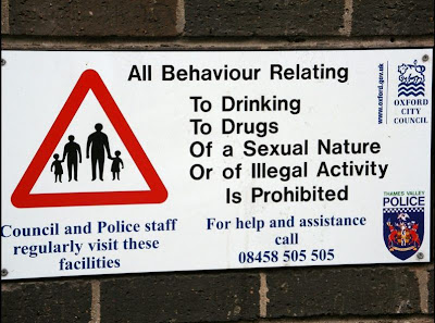 Funny sexual warning signs