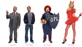Microsoft, MacOSX, GNU/Linux, BSD