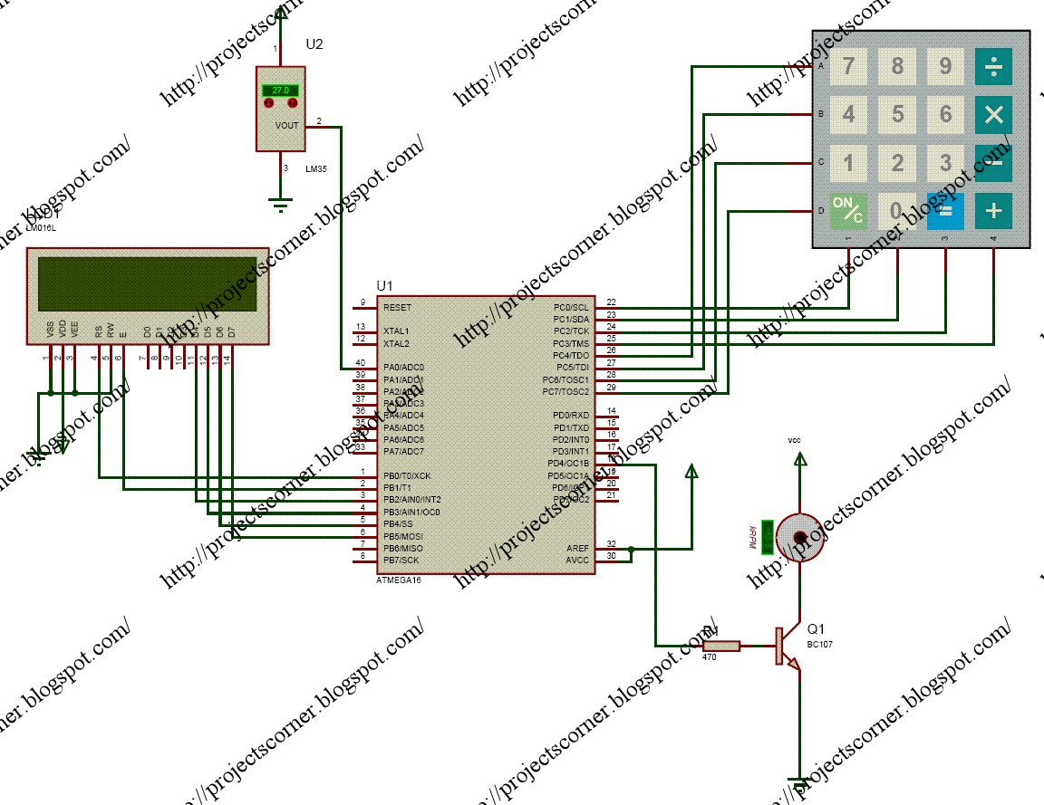 All Type Of Projects Available Here So Enjoyyyy The Circuit Is Temperature Control By Fan This Can Diagram