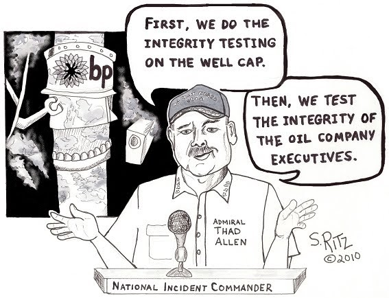 THE ENVIRONMENTALIST: Editorial Cartoon: Integrity Testing