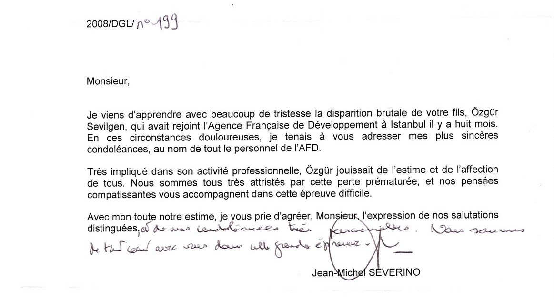 Zg r sevilgen 31 mars 1977 28 juin 2008 lettre de for Chambre de commerce francaise en turquie