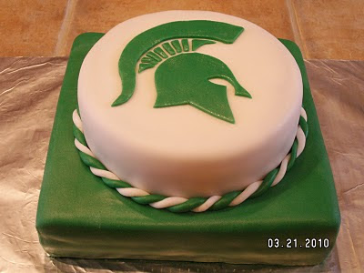This Cake Was Made For A Small Michigan State Fan My First Infusing Square And Round Cakes What Do You Think