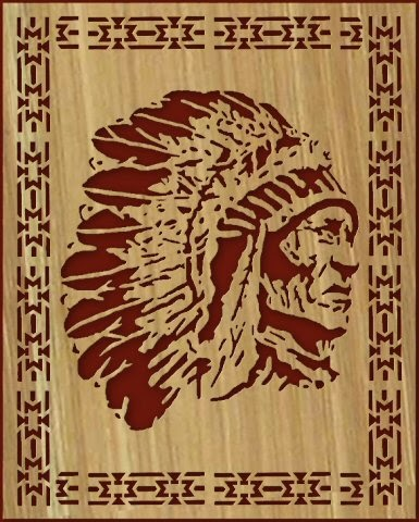 Free Scroll Saw Patterns By Arpop Indian Chief With