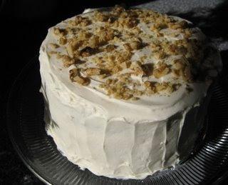 Pecan-Cream Sponge Cake