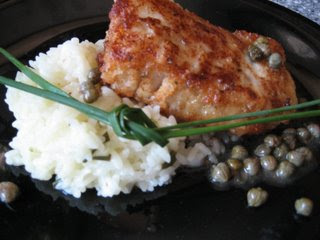 Parmesan Halibut with Capers and Lemon Butter Sauce