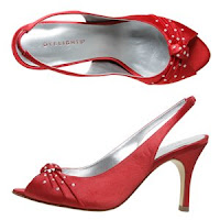 Red Silk Peep Toe by Payless ShoeSource