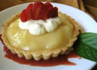 Mango-Lime Tarts with Shortbread Crusts