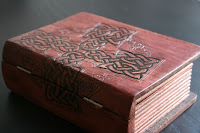 Celtic Cross Woodburned Book Box by Sixth and Elm