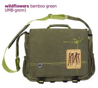 Bamboo Green Ultimate Mesenger Bag by Haiku
