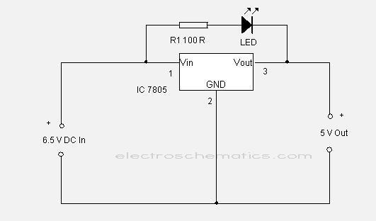 circuit 7805 regulator ic circuits