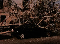 tornado damage at night