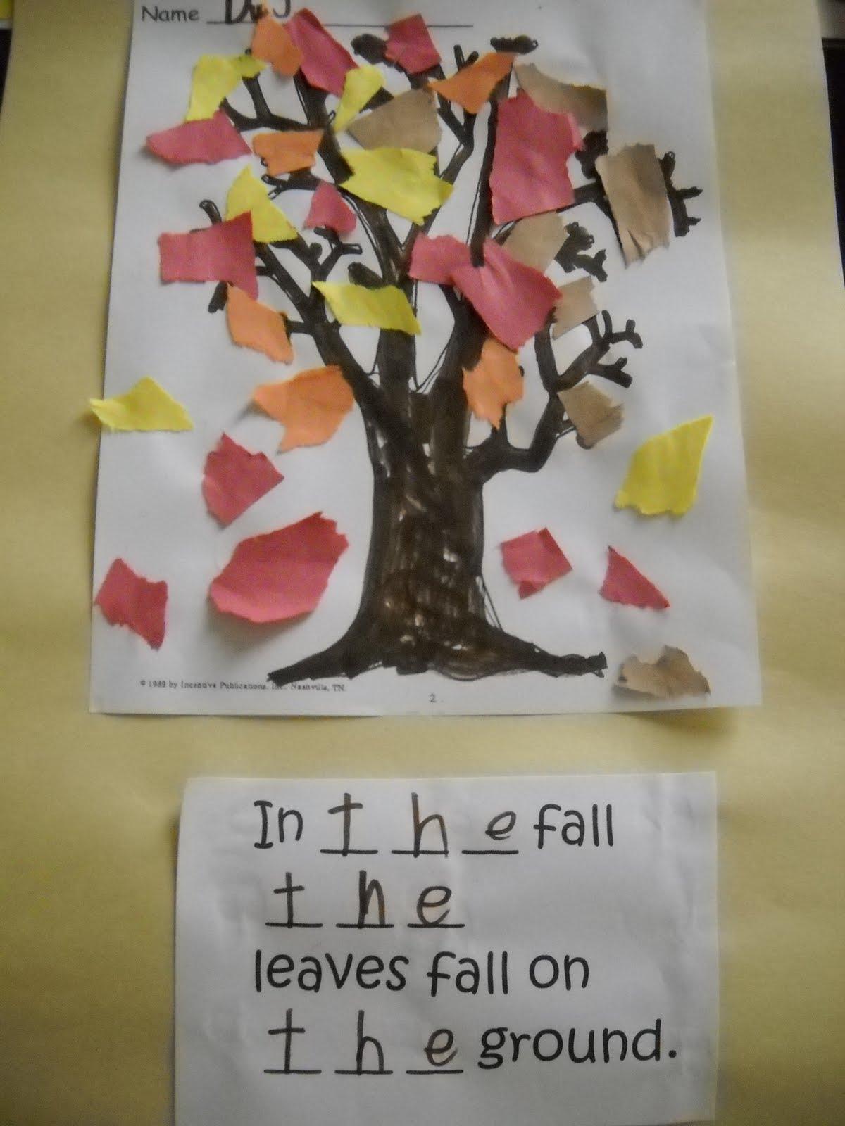 Mrs Wood S Kindergarten Class Fall Leaves