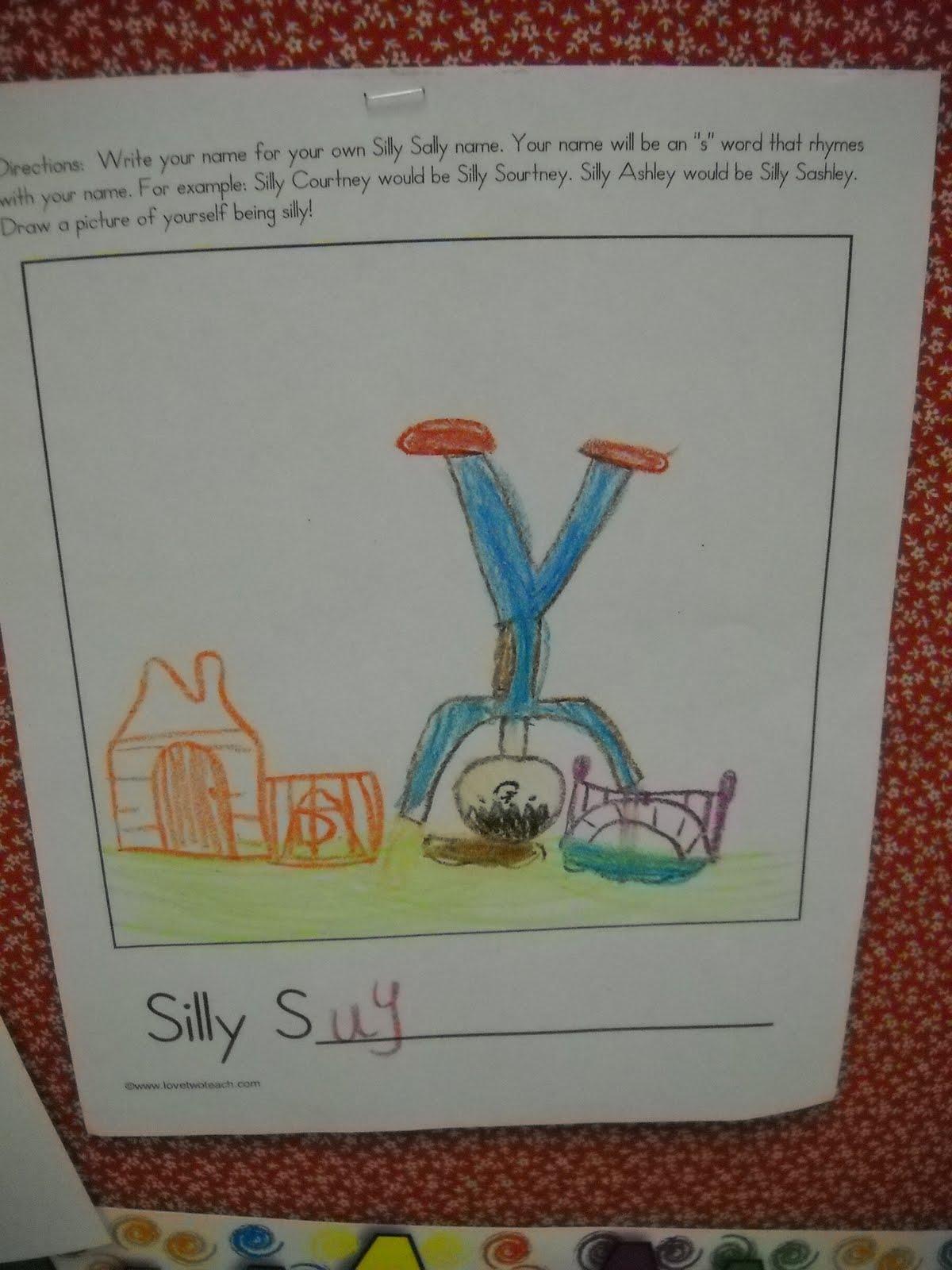 Mrs Wood S Kindergarten Class Silly Sally