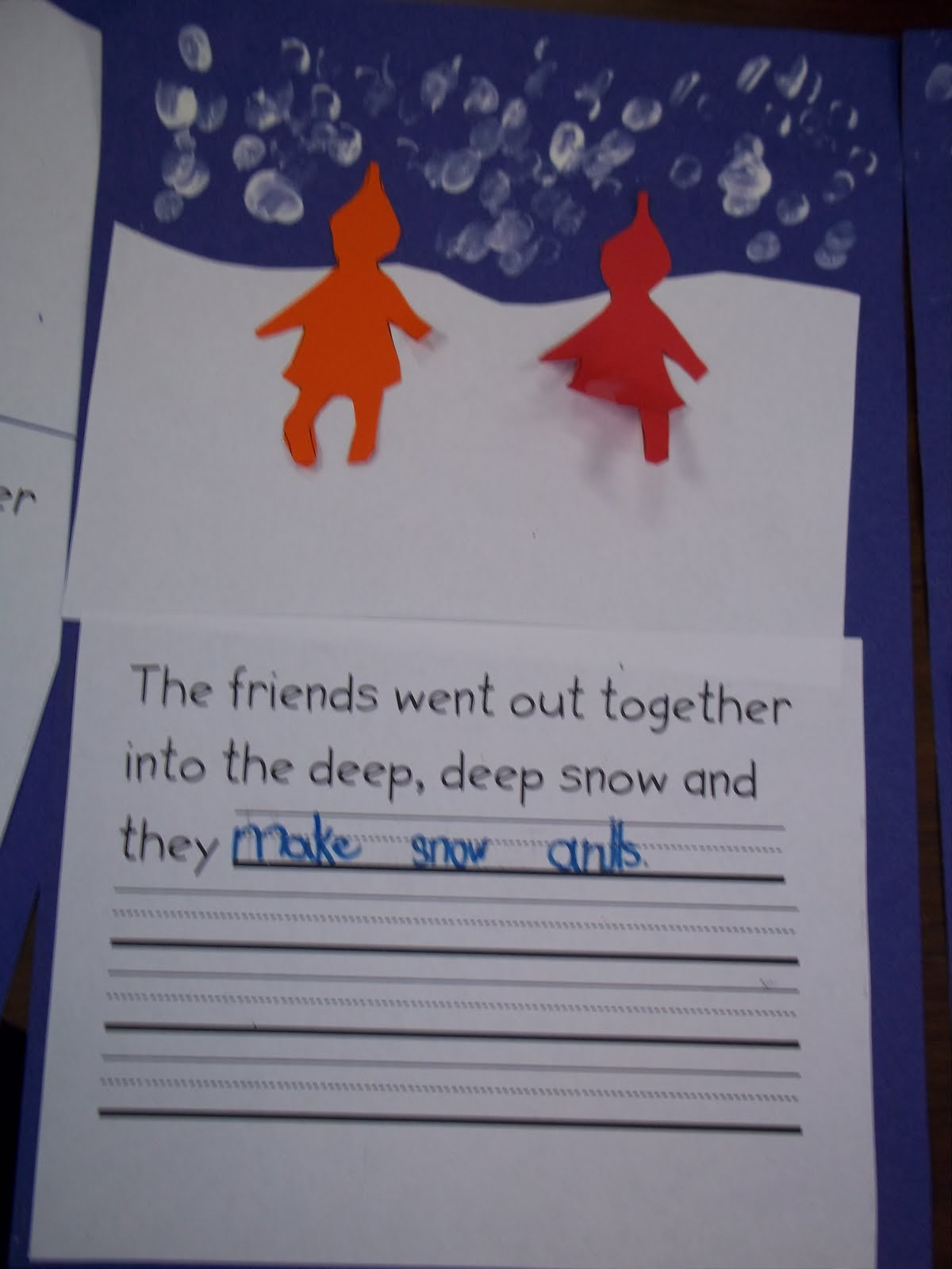 Mrs Wood S Kindergarten Class Snow Snow Snow