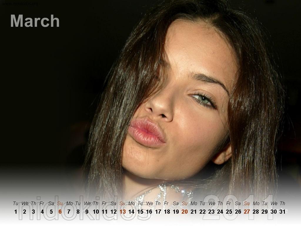 Adriana Lima Calendar 2011 Brazilian Model Adriana Lima