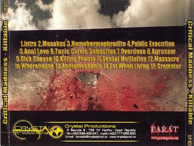 GRINDCORE - Grind/PornoGoreGrind/BrutalDeathMetal... Critical+Madness+-+Killable+-+Back