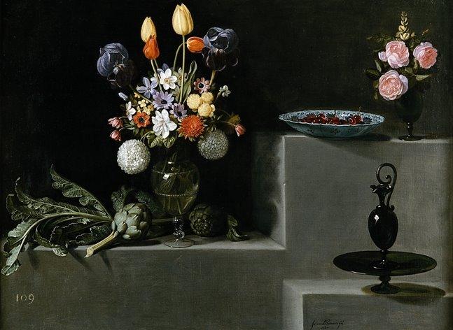 [Hamen_Bodegón+aux+artichauts+et+aux+prunes,+1627+(Prado).jpg]