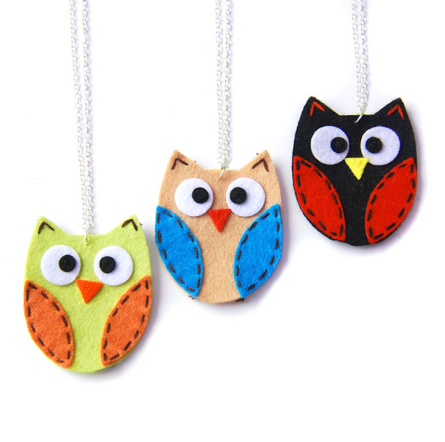 quirky owl necklace