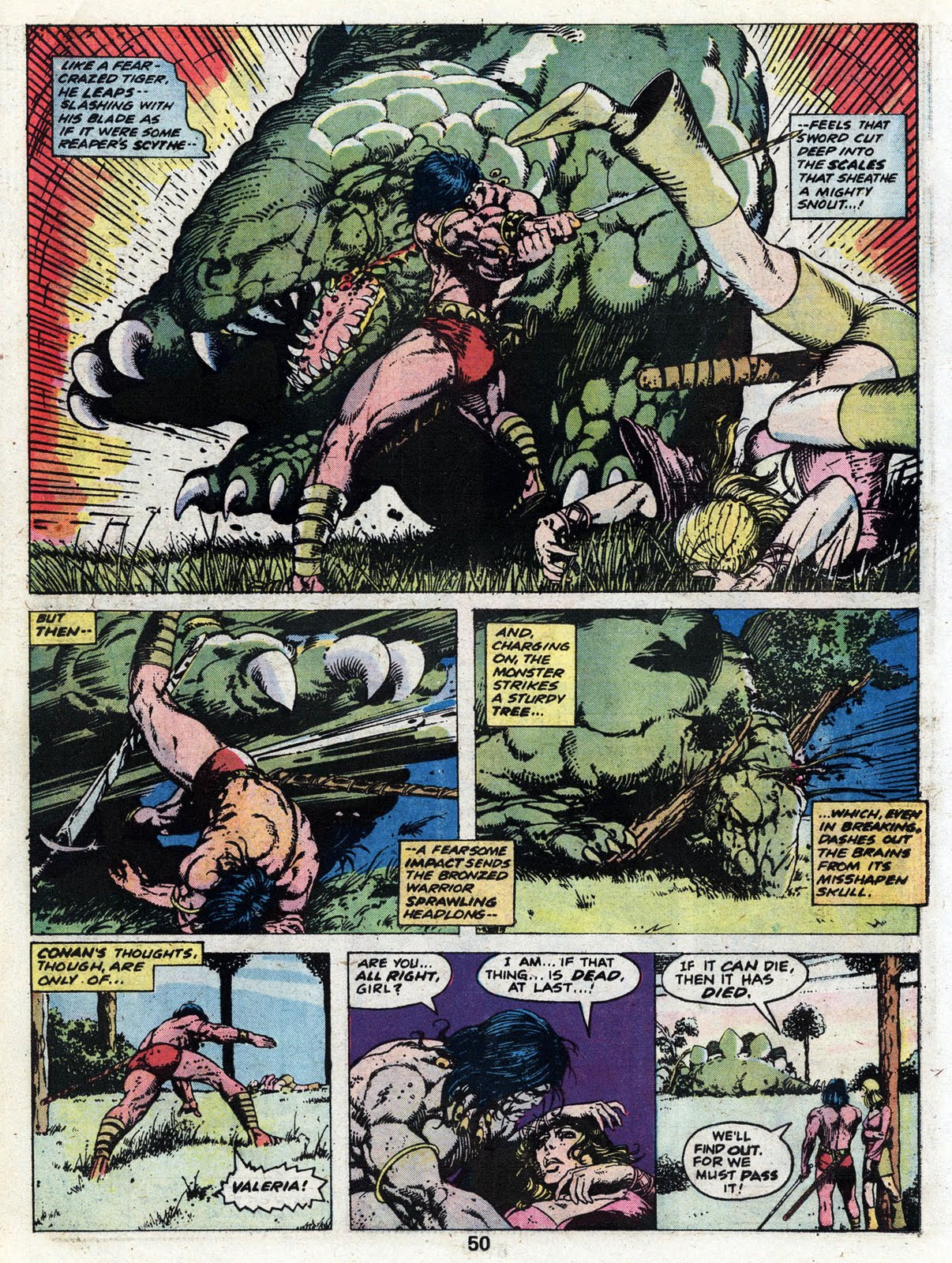 The Warrior's Comic Book Den: Marvel Treasury Edition #4 Featuring Conan  The Barbarian: