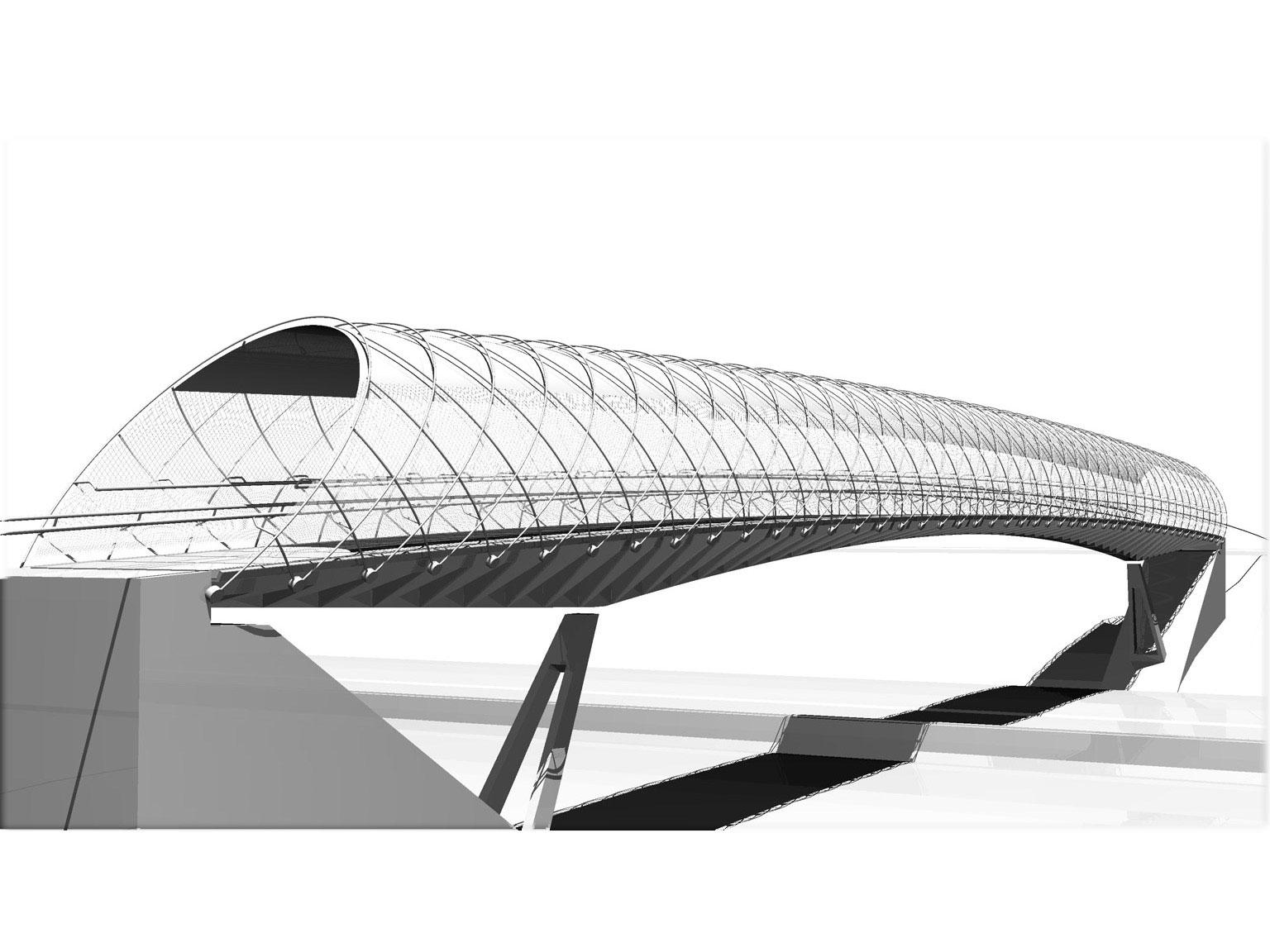 Pasarela sobre la se 30 de luis vidal asociados for Arquitectura y diseno las palmas