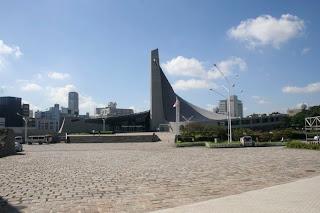 Piscinas para las olimpiadas de 1964 Kenzo