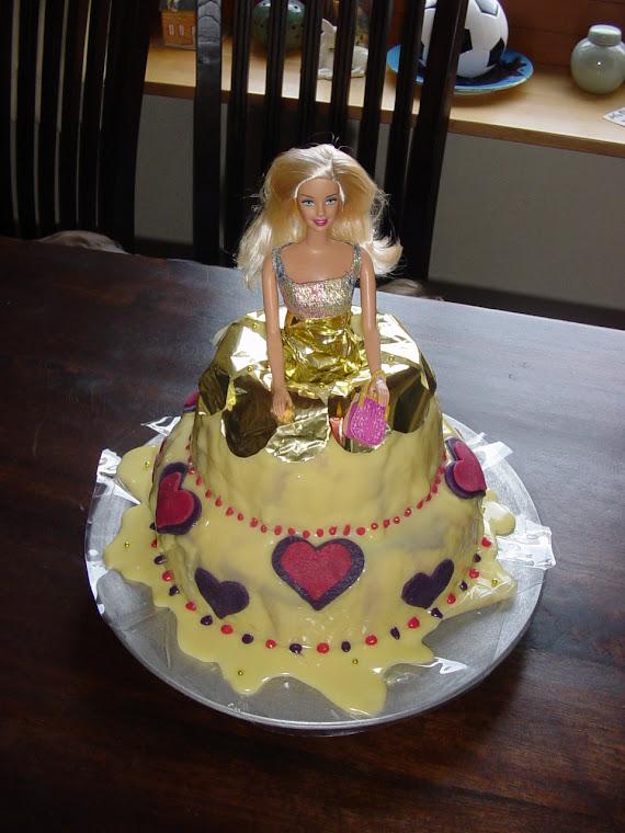 Barbie Taart Groot