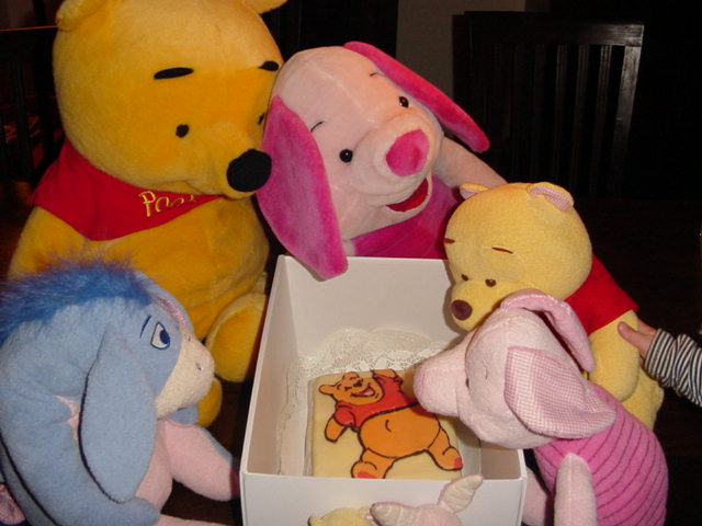 Pooh Taart tussen de Knuffels